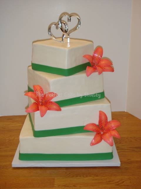 Wedding Cakes With Tiger Lilies Wedding Tiger Lily